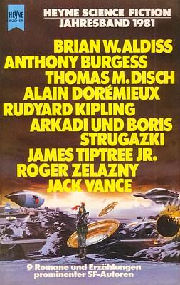 """Buchcover vom """"Heyne Science Fiction Jahresband 1981"""" von Wolfgang Jeschke (Hrsg.)"""