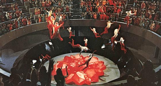 Flucht ins 23. Jahrhundert (Logan's Run) Szenenbild von der Tötung der Dreißigjährigen im Karussell