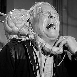 """Szenenfoto aus dem Film """"Ungeheuer ohne Gesicht"""" (Fiend Without a Face, GB 1958) von Arthur Crabtree"""