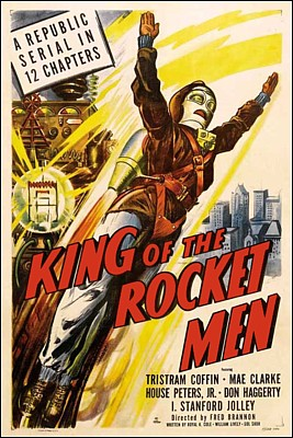 "Kinoplakat zu dem Serial ""King of the Rocket Men"" (USA 1949) von Fred C. Bannon"