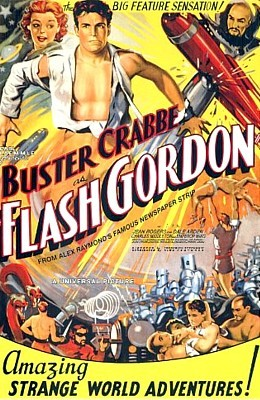 "Poster für das Kinoserial ""Flash Gordon"" (USA 1936)"