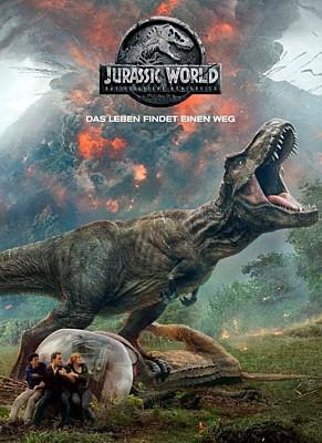 """Poster zu dem Film """"Jurassic World: Das gefallene Königreich"""" (Jurassic World: Fallen Kingdom, USA 2018)"""