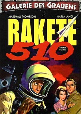 "DVD-Cover zum Film ""Rakete 510"" (First Man Into Space, GB 1959) von Robert Day"
