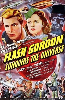 "Poster zum Kinoserial ""Flash Gordon Conquers the Universe"" (USA 1940)"
