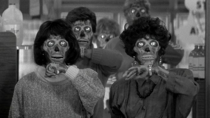 """Szenenfoto aus dem Film """"Sie leben"""" (They Live, USA 1988) von John Carpenter"""