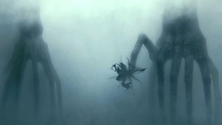 """Szenenfoto aus dem Film """"Arrival"""" (USA 2016) von Denis Villeneuve; die Hektapoden (Aliens)"""