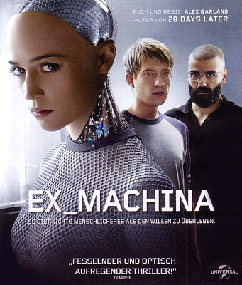"Bluray-Cover zu dem Film ""Ex Machina"" (GB 2015) von Alex Garland"