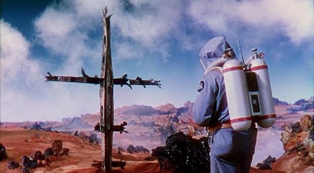 """Szenenfoto aus dem Film """"Die Eroberung des Weltraums"""" (Conquest of Space, USA 1955) von George Pal und Byron Haskin"""