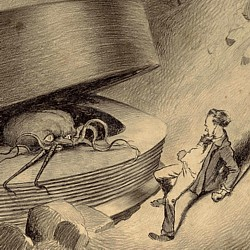"Eine Illustration von Henrique Alvim Corrêa (1876–1910) von 1903 zum Roman ""The War of the Worlds"" (1897) von H. G. Wells"