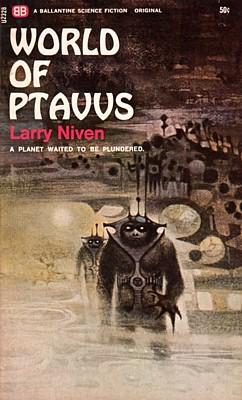 """Cover des Romans """"World of Ptavvs"""" von Larry Niven, 1966 von Ballantine Books"""