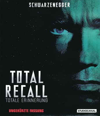 "Deutsches Bluray-Cover zu dem Film ""Total Recall"" (USA 1990) von Paul Verhoeven"