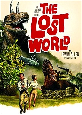 "DVD-Cover für den Film ""Versunkene Welt"" (The Lost World, USA 1960) von Irwin Allen"