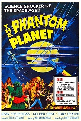 "Plakatmotiv zu dem Film ""The Phantom Planet"" (USA 1961) von William Marshall"