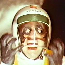 """Szenenfoto (schreiender Astronaut) aus dem Film """"Endstation Mars"""" (Mission Mars, USA 1968) von Nicholas Webster"""