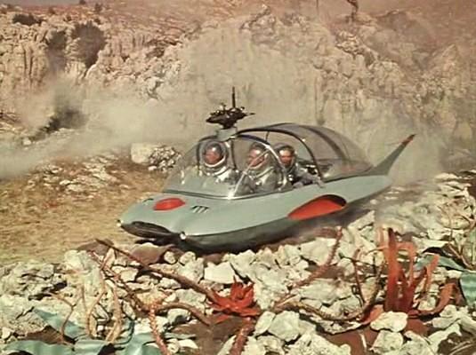"""Szenenfoto Hovercar aus """"Planet der Stürme"""" (Planeta Bur, UdSSR 1962)"""