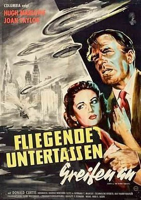 Fliegende Untertassen greifen an (USA 1956) deutsches Filmplakat