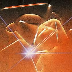 """Ausschnitt des Covermotivs des Romans """"Der Orchideenkäfig"""" von Herbert W. Franke, in zweiter Auflage (1982) im Wilhelm Goldmann Verlag"""