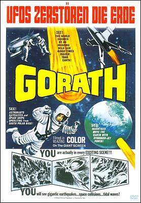 """DVD-Cover für den Film """"Gorath"""" (UFOs zerstören die Erde, Japan 1962) von Ishiro Honda"""