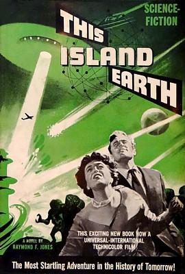 """Cover des Romans """"This Island Earth"""" von Raymond F. Jones  im Verlag Shasta, Neuauflage 1955"""