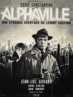 """Kinoplakat zu dem Film """"Lemmy Caution gegen Alpha 60"""" (Alphaville, Frankreich/Italien 1965) von Jean-Luc Godard"""