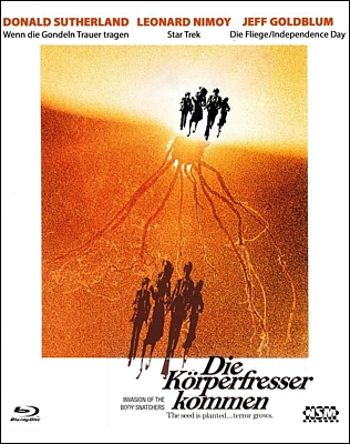 "Bluray-Cover zu dem Film ""Die Körperfresser kommen"" (Invasion of the Body Snatchers, USA 1978) von Philip Kaufman"