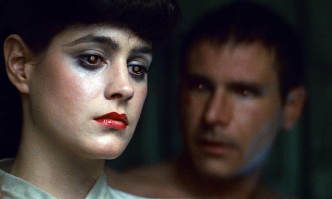 Sean Young und Harrison Ford als Rachael und Rick Deckard in Blade Runner (1982)