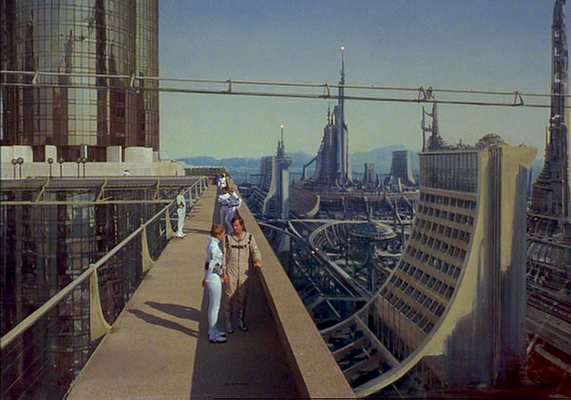 "Szenenfoto aus dem Film ""Buck Rogers"" (Buck Rogers in the 25th Century; USA 1979) von Daniel Haller; New Chicago"