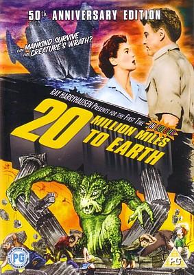 """DVD-Cover zum Film """"Die Bestie aus dem Weltenraum"""" (Twenty Million Miles to Earth, USA 1957) von Nathan Juran und Ray Harryhausen"""