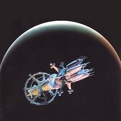 """Ausschnitt vom Buchcover des Romans """"Unendlichkeit"""" (Revelation Space, 2000) von Alastair Reynolds"""