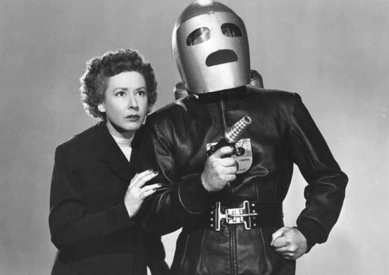 "Publicity Shot zu dem Serial ""King of the Rocket Men"" (USA 1949) von Fred C. Bannon; Mae Clarke"