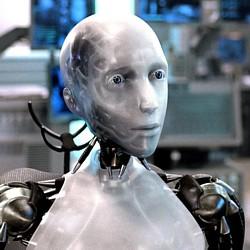 """Der Roboter Sonny in dem Film """"I, Robot"""" (USA 2004) von Alex Proyas"""