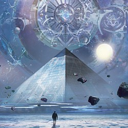 "Covermotiv des Romans ""Die drei Sonnen"" (The Three Body Problem; San Ti) von Liu Cixin"