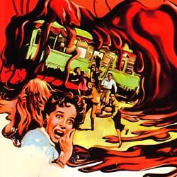 """Kinoplakat für """"Blob -- Schrecken ohne Namen"""" (The Blob, USA 1958) von Irvin S. Yeaworth Jr. (Ausschnitt)"""