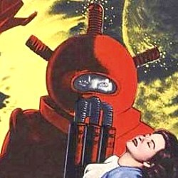 """Ausschnitt vom Kinoplakat zu dem Film """"Phantom from Space"""" (USA 1953) von William Lee Wilder"""