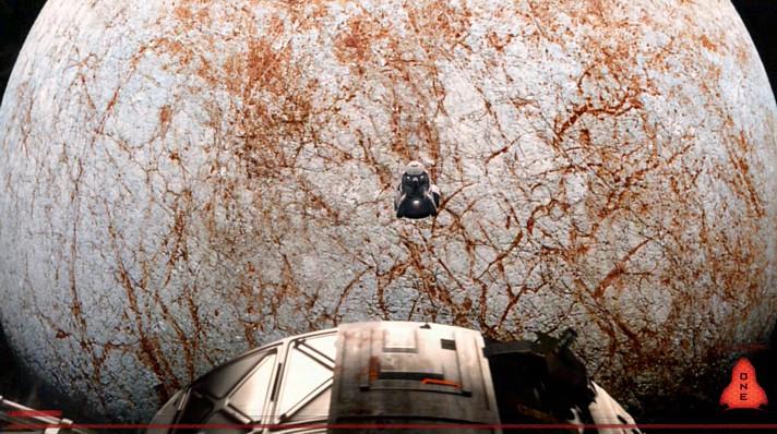 """Szenenfoto aus dem Film """"Europa Report"""" (USA 2013); der Jupitermond Europa"""