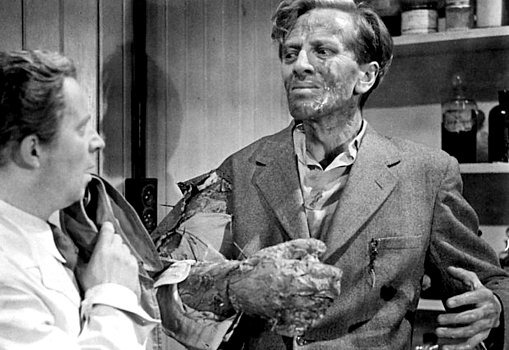 "Szenenfoto aus dem Film ""Schock"" (The Quatermass Xperiment, GB 1955) von Val Guest; Richard Wordsworth"