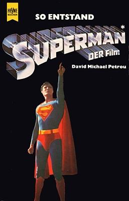 """Buchcover von """"So entstand Superman, der Film"""" (1979) von David Michael Petrou; Wilhelm Heyne Verlag"""