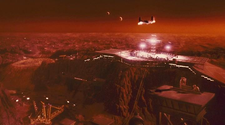 "Szenenfoto aus dem Film ""Total Recall"" (USA 1990) von Paul Verhoeven; Mars-Landschaft"