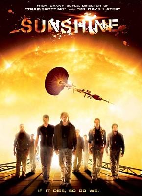 """DVD-Cover für den Film """"Sunshine"""" (GB 2007) von Danny Boyle"""