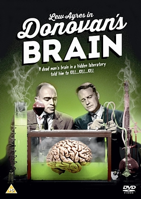 "DVD-Cover zu dem Film ""Donovans Hirn"" (Donovan's Brain, USA 1953); Tom Gries und Lew Ayres"