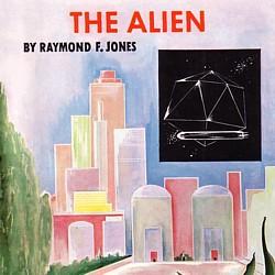 """Ausschnitt vom Buchcover des Romans """"The Alien"""" (1951) von Raymond F. Jones"""