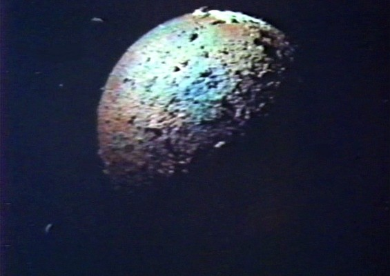 Der Mars, vom Weltraum aus gesehen, in dem Film Endstation Mars (Mission Mars, USA 1968)