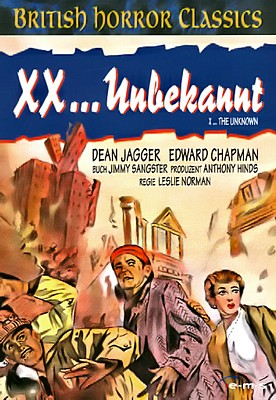 "DVD-Cover zu dem Film ""XX . . . Unbekannt"" (X the Unknown, GB 1956) von Leslie Norman"