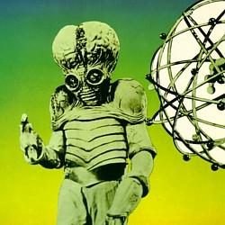 "Ausschnitt aus dem Buchcover von Jürgen Menningen, ""Filmbuch Science Fiction"" (Köln 1975)"