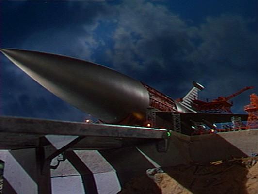 Die Raketenarche auf ihrem Bauplatz in dem Film Der jüngste Tag (When Worlds Collide, USA 1951)