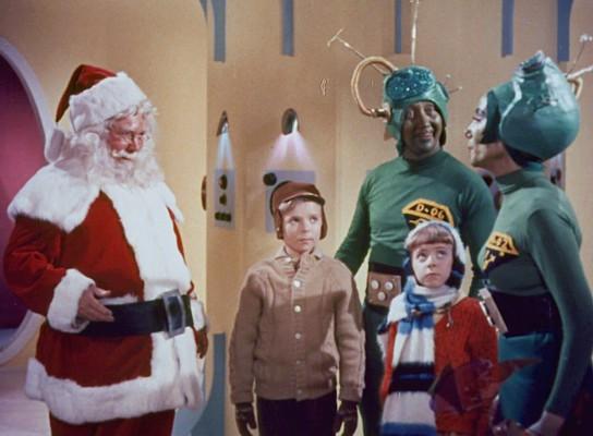 """Szenebild aus dem Film """"Santa Claus Conquers the Martians"""" (USA 1964) von Nicholas Webster"""