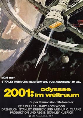 """Kinoplakat zu dem Film """"2001: Odyssee im Weltraum"""" von Stanley Kubrick (2001: A Space Odyssey, GB/USA 1968)"""