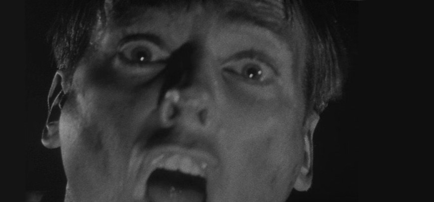 Kevin McCarthty hysterisch in Invasion of the Body Snatchers (USA 1956)