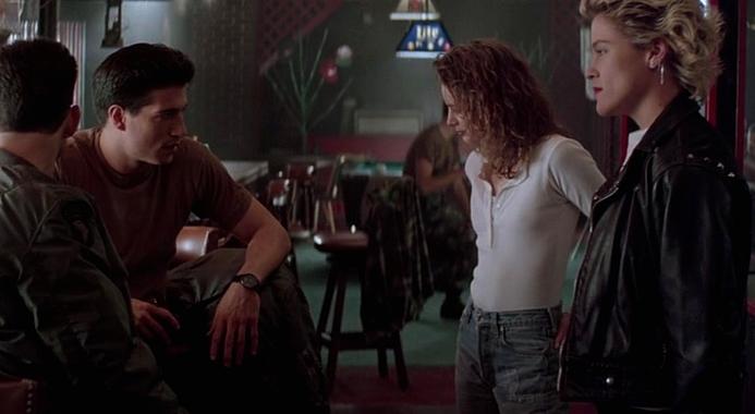 """Szenenfoto aus dem Film """"Body Snatchers"""" (USA 1993) von Abel Ferrara; Billy Wirth, Gabrielle Anwar und Christine Elise"""