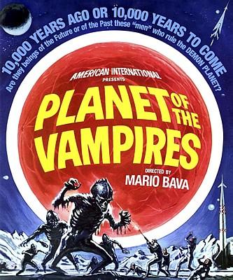 """Bluray-Cover zu dem Film """"Planet der Vampire"""" (Terrore Nello Spazio, Italien/Spanien 1965) von Mario Bava"""